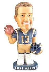 ボブルヘッド バブルヘッド 首振り人形 ボビンヘッド BOBBLEHEAD 【送料無料】Kurt Warner Football Official License Bobble Head Hand-painted Ceramic Dollボブルヘッド バブルヘッド 首振り人形 ボビンヘッド BOBBLEHEAD