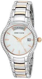 腕時計 アンクライン レディース 【送料無料】Anne Klein Women's Swarovski Crystal Accented Day/Date Function Two-Tone Bracelet Watch, AK/3715MPRT腕時計 アンクライン レディース