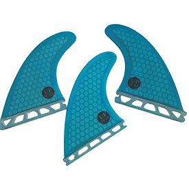 サーフィン フィン マリンスポーツ 【送料無料】UPSURF Surfboard Tri Fin Future M Size Fiberglass+Honeycomb G5 Thruster Set(White/Blue/Orange) (Blue Logo)サーフィン フィン マリンスポーツ