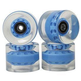 ウィール タイヤ スケボー スケートボード 海外モデル 【送料無料】FREEDARE Skateboard Wheels with Bearings 60mm Cruiser Wheels (Lucency&Blue, 4PCS)ウィール タイヤ スケボー スケートボード 海外モデル