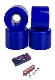 ウィール タイヤ スケボー スケートボード 海外モデル 【送料無料】Cal 7 70mm Longboard Skateboard Wheels + ABEC 7 Bearings and Spacers Set (Blue)ウィール タイヤ スケボー スケートボード 海外モデル