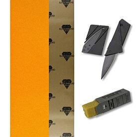 デッキテープ グリップテープ スケボー スケートボード 海外モデル 【送料無料】TGM Skateboards Black Diamond 10x48 Orange Longboard Skate Griptape + Grip Knife + Grip Cleanerデッキテープ グリップテープ スケボー スケートボード 海外モデル