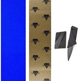 デッキテープ グリップテープ スケボー スケートボード 海外モデル 【送料無料】TGM Skateboards Black Diamond 10x48 Blue Longboard Skate Griptape + Grip Cutting Knife Toolデッキテープ グリップテープ スケボー スケートボード 海外モデル