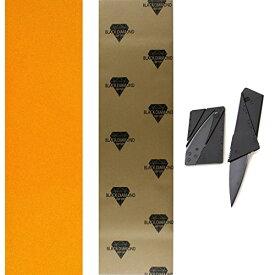 デッキテープ グリップテープ スケボー スケートボード 海外モデル 【送料無料】TGM Skateboards Black Diamond 10x48 Orange Longboard Skate Griptape + Grip Cutting Knife Toolデッキテープ グリップテープ スケボー スケートボード 海外モデル