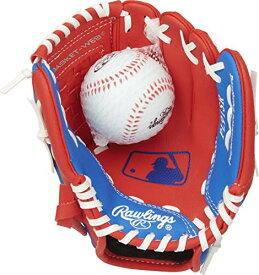 グローブ 内野手用ミット ローリングス 野球 ベースボール 【送料無料】Rawlings Players Series Youth Tball/Baseball Glove with Ball, Right Hand Throw, Red/Blue, 9 Inch (Ages 3-5)グローブ 内野手用ミット ローリングス 野球 ベースボール