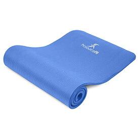 """ヨガマット フィットネス 【送料無料】ProsourceFit Extra Thick Yoga and Pilates Mat 1"""""""" (25mm), 71-inch Long High Density Exercise Mat with Comfort Foam and Carrying Strap - Blueヨガマット フィットネス"""