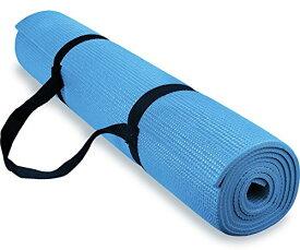 ヨガマット フィットネス 【送料無料】Spoga 1/4-Inch Anti-Slip Exercise Yoga Mat with Carrying Strap, Light Blueヨガマット フィットネス