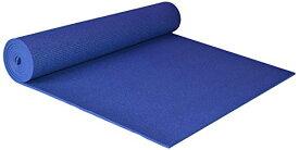 ヨガマット フィットネス 【送料無料】YogaAccessories Extra Wide 1/4'' Deluxe Yoga Mat - Blueヨガマット フィットネス