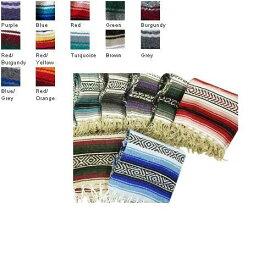ヨガマット フィットネス 【送料無料】Deluxe Mexican Yoga Blanket:Color&ndsh;Blueヨガマット フィットネス