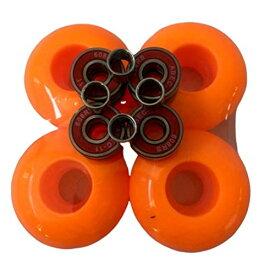 ウィール タイヤ スケボー スケートボード 海外モデル 【送料無料】52mm Blank Pro Black Single Tone Skateboard Wheels ABEC-11Bearings Spacers (Orange)ウィール タイヤ スケボー スケートボード 海外モデル