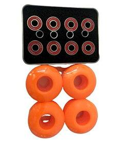 ウィール タイヤ スケボー スケートボード 海外モデル 【送料無料】52mm Blank Pro Single Tone Skateboard Wheels ABEC-11Bearings Spacers with Metal Box (Orange)ウィール タイヤ スケボー スケートボード 海外モデル