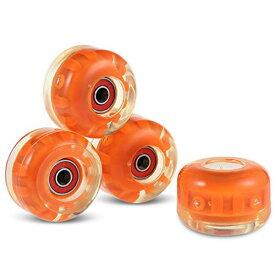 ウィール タイヤ スケボー スケートボード 海外モデル 【送料無料】fashionbeautybuy Set of 4 78-85A PU Skateboard Wheels for Ollie Punk and Jumping (Orange)ウィール タイヤ スケボー スケートボード 海外モデル