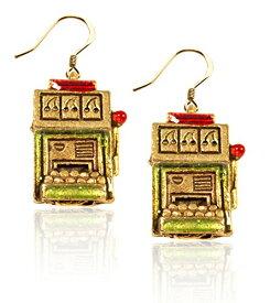 気まぐれなかわいい プレゼント クリスマス ピアス アメリカ 【送料無料】Whimsical Gifts Casino Charm Earrings (Slot Machine, Gold)気まぐれなかわいい プレゼント クリスマス ピアス アメリカ