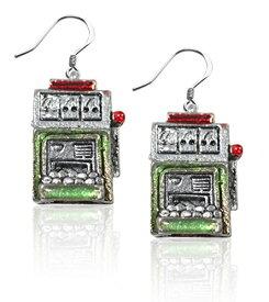 気まぐれなかわいい プレゼント クリスマス ピアス アメリカ 【送料無料】Whimsical Gifts Casino Charm Earrings (Slot Machine, Silver)気まぐれなかわいい プレゼント クリスマス ピアス アメリカ