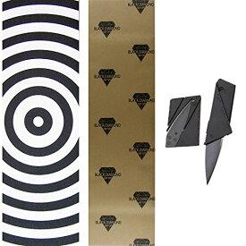 デッキテープ グリップテープ スケボー スケートボード 海外モデル 【送料無料】Black Diamond 9x33 Orange Skateboard Griptape + Grip Cutting Knife Toolデッキテープ グリップテープ スケボー スケートボード 海外モデル