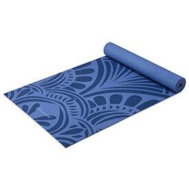 ヨガマット フィットネス 【送料無料】Gaiam Yoga Mat Premium Print Non Slip Exercise & Fitness Mat for All Types of Yoga, Pilates & Floor Workouts, Mantra Classic Blue, 5mmヨガマット フィットネス