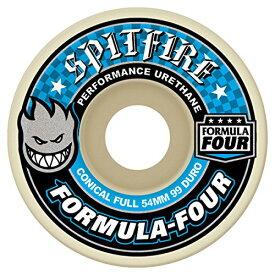 ウィール タイヤ スケボー スケートボード 海外モデル 【送料無料】Spitfire Formula Four 99 Conical Full (Blue Print) Wheels-54 mmウィール タイヤ スケボー スケートボード 海外モデル
