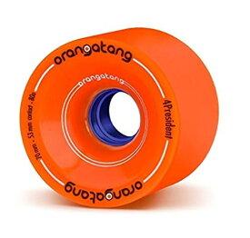 ウィール タイヤ スケボー スケートボード 海外モデル 【送料無料】Orangatang 4 President 70 mm 80a Cruising Longboard Skateboard Wheels w/Loaded Jehu V2 Bearings (Orange, Set of 4)ウィール タイヤ スケボー スケートボード 海外モデル