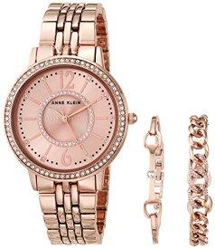 腕時計 アンクライン レディース 【送料無料】Anne Klein Women's Swarovski Crystal Accented Rose Gold-Tone Watch and Bracelet Set, AK/3838RGST腕時計 アンクライン レディース