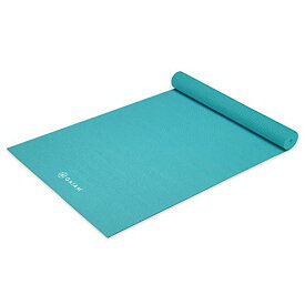 ヨガマット フィットネス 【送料無料】Gaiam Yoga Mat Premium Solid Color Reversible Non Slip Exercise & Fitness Mat for All Types of Yoga, Pilates & Floor Workouts, Light Blue, 6mmヨガマット フィットネス
