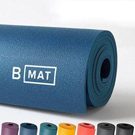 """ヨガマット フィットネス 【送料無料】B YOGA Mat for Men and Women, 6mm Thick, 85"""" x 26"""", Deep Blue - 100% Rubber, Non-Slip Floor Workout Mat for Yogis, with Superior Cushioning for Comfort - Premium Fitness and Pilateヨガマット フィットネス"""