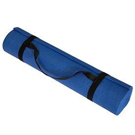 ヨガマット フィットネス 【送料無料】Non Slip Yoga Mat- Double Sided Comfort Foam, Durable Exercise Mat For Fitness, Pilates and Workout With Carrying Strap By Wakeman Fitness (Blue) (80-5135-BLUE)ヨガマット フィットネス