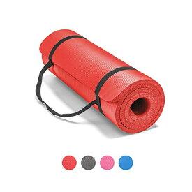 ヨガマット フィットネス 【送料無料】LOKATSE HOME All Purpose Thick Yoga Mat with Carrying Strap High Density Non-Slip Exercise Mat for Yoga and Pilates, 72 x 24 Inch, Blueヨガマット フィットネス