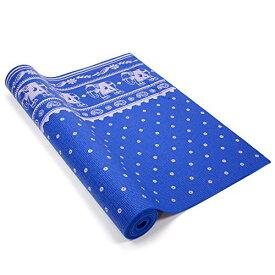 ヨガマット フィットネス 【送料無料】Yogi Mat by Wai Lana (Color: Sandalwood, Blue) - 1/8 inch Thick, Non-slip, Stylish, Latex-Free, Lightweight, Optimum Comfortヨガマット フィットネス