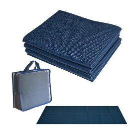ヨガマット フィットネス 【送料無料】Khataland YoFoMat-Ultra Thick Best Foldable Yoga Mat, Eco Friendly with Travel Bag, Extra Long 72-Inch, Free From Phthalates and Latex, Midnight Blueヨガマット フィットネス