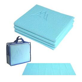 ヨガマット フィットネス 【送料無料】Khataland YoFoMat-Ultra Thick Best Foldable Yoga Mat, Eco Friendly with Travel Bag, Extra Long 72-Inch, Free From Phthalates and Latex, Sky Blueヨガマット フィットネス