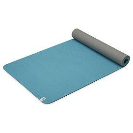 """ヨガマット フィットネス 【送料無料】New Balance Yoga Mat - TPE 6mm Thick Non Slip Reversible Performance Exercise Mat for Fitness, Yoga, Pilates, Floor Workouts & Stretching (68"""" L x 24"""" W x 6mm) - Bermuda Blueヨガマット フィットネス"""