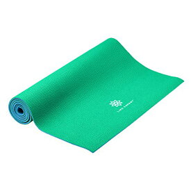ヨガマット フィットネス 【送料無料】Life Energy 6mm Reversible Non-Slip Yoga Mat - Green, Blueヨガマット フィットネス