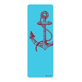 """ヨガマット フィットネス 【送料無料】STOTT PILATES Anchor Yoga Mat, Blue, 0.25""""/6mmヨガマット フィットネス"""