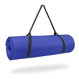 ヨガマット フィットネス 【送料無料】Pure Fitness 1/2 inch Ultra Thick NBR Exercise Mat - Iris, Blueヨガマット フィットネス