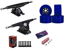 """トラック スケボー スケートボード 海外モデル 直輸入 【送料無料】Cal 7 Longboard Flywheel 10.75"""" Axle Black Truck Bearing 90mm Blue Skateboard Wheelsトラック スケボー スケートボード 海外モデル 直輸入"""
