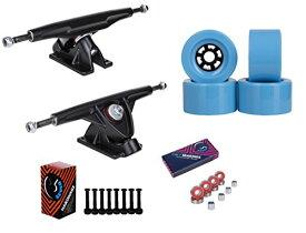 """トラック スケボー スケートボード 海外モデル 直輸入 【送料無料】Cal 7 Longboard Flywheel 10.75"""" Axle Black Truck Bearing 97mm Light Blue Skateboard Wheelsトラック スケボー スケートボード 海外モデル 直輸入"""