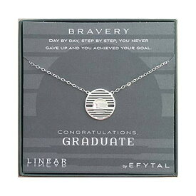 EFYTAL アクセサリー ブランド かわいい おしゃれ 【送料無料】EFYTAL Graduation Gifts, 925 Sterling Silver Bravery Linear Necklace, Grad Gift for Daughter, Geometric Pendant Jewelry for Women, CongratEFYTAL アクセサリー ブランド かわいい おしゃれ