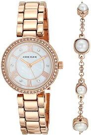 腕時計 アンクライン レディース 【送料無料】Anne Klein Women's Premium Crystal Accented Rose Gold-Tone Watch and Bracelet Set, AK/3748RGST腕時計 アンクライン レディース