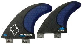 サーフィン フィン マリンスポーツ 【送料無料】Shapers FINS Stealth Series SQ-5 Quad (Medium, FCS, Black Carbon/Blue)サーフィン フィン マリンスポーツ