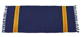 ヨガマット フィットネス 【送料無料】YogaAccessories Cotton Yoga Mat Diamond Pattern Rug - Blueヨガマット フィットネス