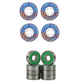 ウィール タイヤ スケボー スケートボード 海外モデル 【送料無料】Slime Balls Skateboard Wheels 56mm Vomit Mini 97A White/Blue ABEC 7 Bearingsウィール タイヤ スケボー スケートボード 海外モデル