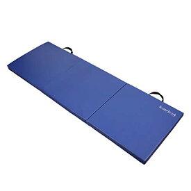ヨガマット フィットネス 【送料無料】HemingWeigh 2 Inch Extra Thick Exercise Mat, Gym Mats for Home Workout, Tumbling Mat for Kids Gymnastics Equipment, Folding Mat for Martial Arts, 3 Fold, Blueヨガマット フィットネス