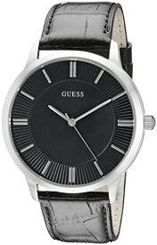 ゲス GUESS 腕時計 メンズ U0664G1 GUESS Black Genuine Leather Dress Watch with Stainless Steel Case. Color: Black (Model: U0664G1)ゲス GUESS 腕時計 メンズ U0664G1