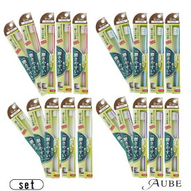 歯ブラシ職人田辺重吉の「磨きやすい」歯ブラシ SLT-02 毛先が細いタイプ 合計5点セット【追跡可能メール便対応5点セット×3個まで】
