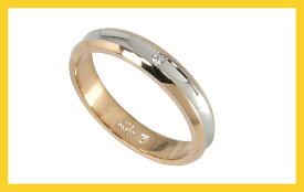【Avanty】2本セット:プラチナ900/K18PG:マリッジリング結婚指輪