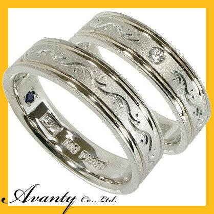 【スーパーセール】【ランキング1位】2本セット プラチナマリッジリング結婚指輪 プラチナ950(Pt950)/K18【刻印無料】