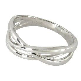 【本日10%OFF】ピンキーリング プラチナ 3連 クロス ピンキー リング プラチナ950 Pt950 プラチナリング 指輪 指輪 地金 シンプル レディース 記念日 サイズ 0号-7.5号 0号 1号 2号 3号 4号 5号 6号 7号 ハーフサイズ