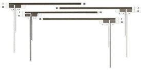フィルムアンテナ パイオニア カロッツェリア サイバーナビ用 AVIC-ZH9000 4chセット カーナビ ナビ アンテナ