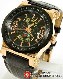 エドハーディー ad-rg ADMIRAL Ed-Hardy レディース 腕時計 ブランド ブラウン×ブラック 黒×ゴールド