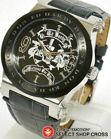 エドハーディー ad-sr ADMIRAL Ed-Hardy レディース 腕時計 ブランド ブラック 黒×シルバー